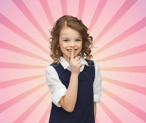 Happy girl gest ludzi dzieci tajność Zdjęcia stock © dolgachov