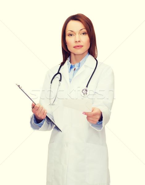 женщины врач буфер обмена здравоохранения медицина Сток-фото © dolgachov