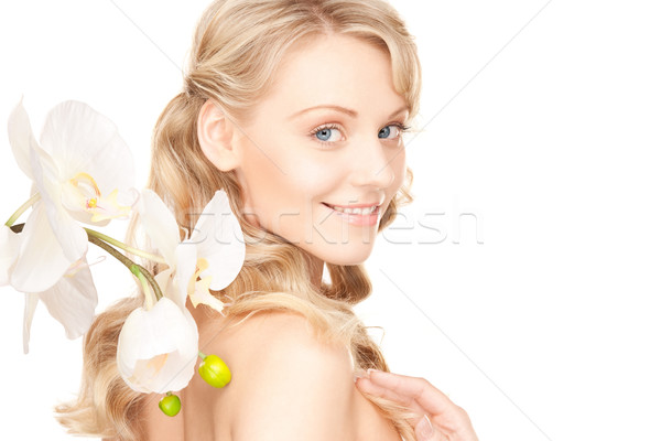 Foto stock: Bela · mulher · quadro · mulher · menina · sensual