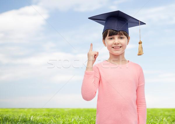 Mädchen glücklich Bachelor hat Kindheit Schule Bildung Stock foto © dolgachov