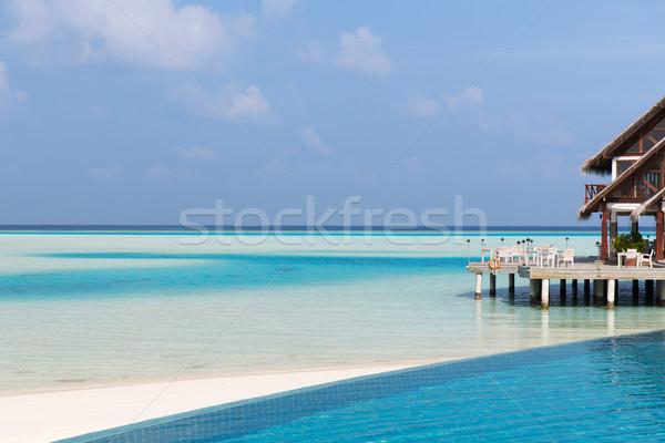Veranda teras plaj deniz kıyı seyahat Stok fotoğraf © dolgachov