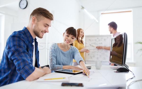 Creatieve team blauwdruk kantoor business startup Stockfoto © dolgachov