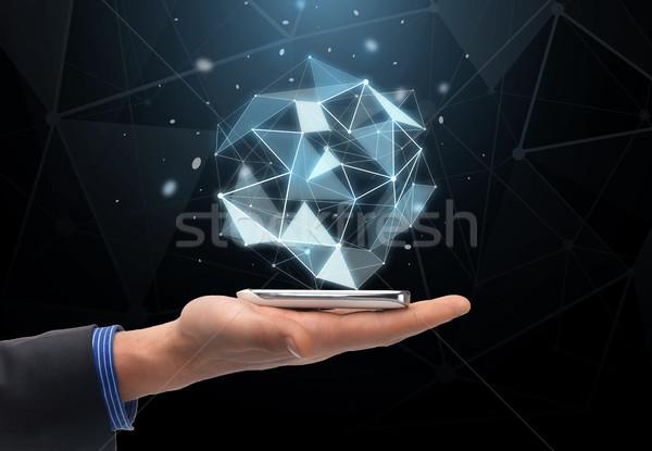 Сток-фото: стороны · проекция · смартфон · технологий · бизнеса