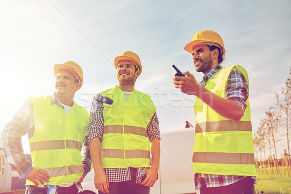 Felice maschio costruttori industria costruzione Foto d'archivio © dolgachov