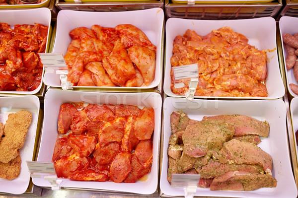 Marinato carne alimentari vendita alimentare Foto d'archivio © dolgachov