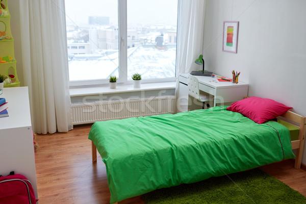 дети комнату интерьер кровать домой Сток-фото © dolgachov