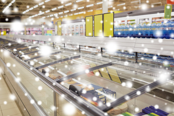 freezers at grocery store Stock photo © dolgachov