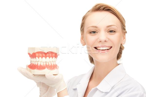 врач фотография Привлекательная женщина женщину девушки медицина Сток-фото © dolgachov