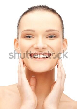 finger on lips Stock photo © dolgachov
