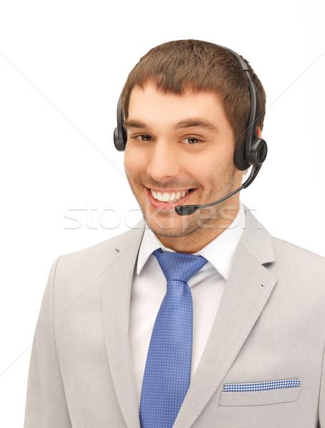 優しい 男性 ヘルプライン 演算子 明るい 画像 ストックフォト © dolgachov