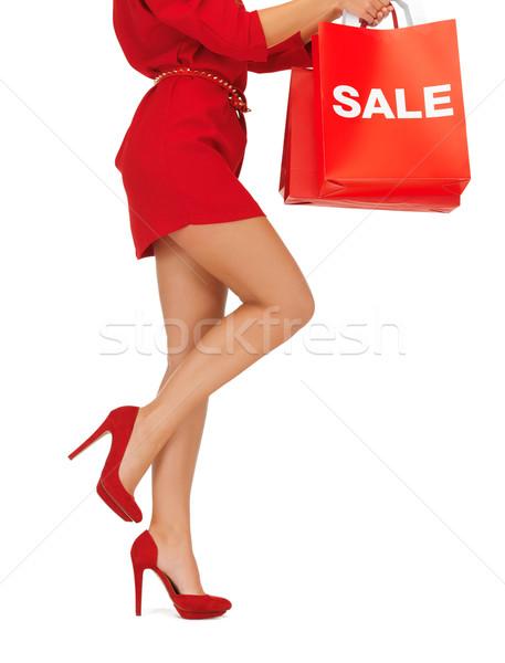 Vrouw foto Stockfoto © dolgachov
