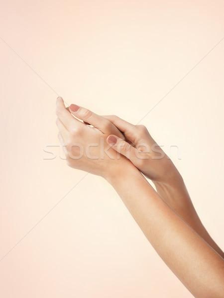 Női puha bőr kezek közelkép egészség Stock fotó © dolgachov
