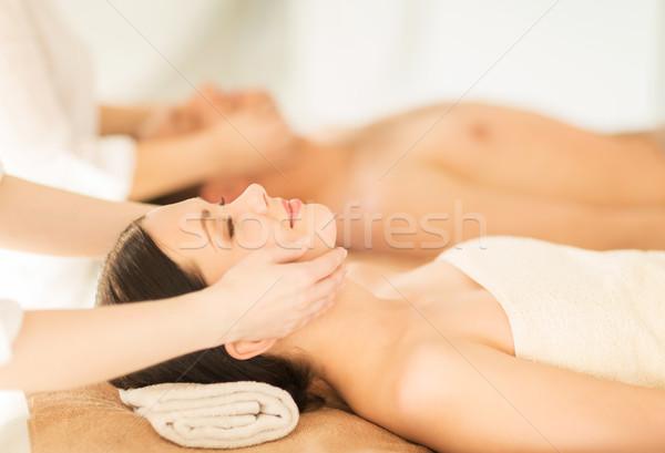 カップル スパ 画像 サロン 顔 治療 ストックフォト © dolgachov