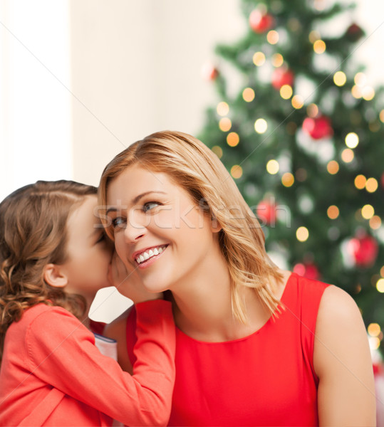 mother and daughter whispering gossip Stock photo © dolgachov