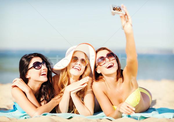 Stockfoto: Meisjes · foto · strand · zomer · vakantie