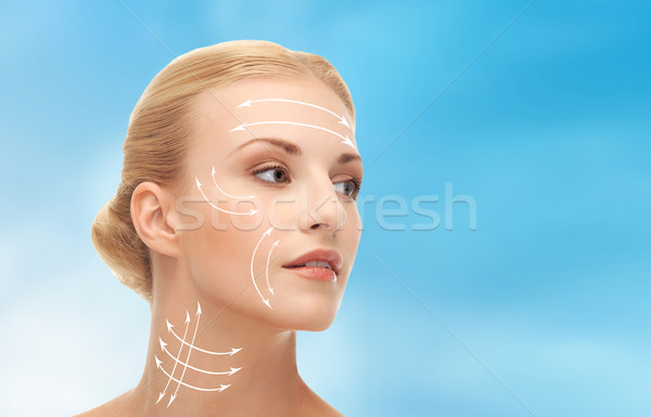 woman ready for cosmetic surgery Stock photo © dolgachov