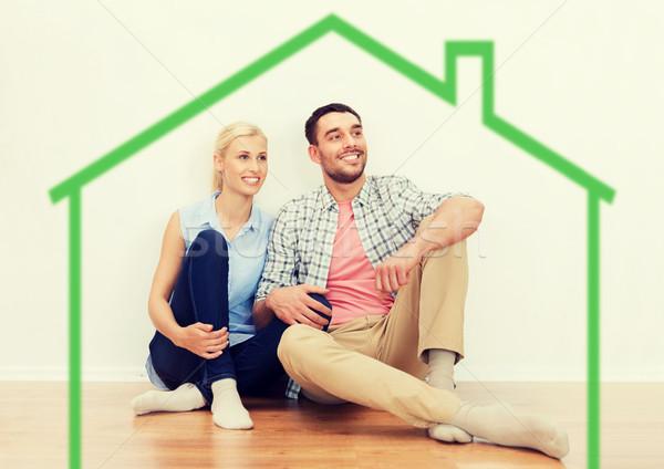 Szczęśliwy para człowiek kobieta nowy dom domu Zdjęcia stock © dolgachov
