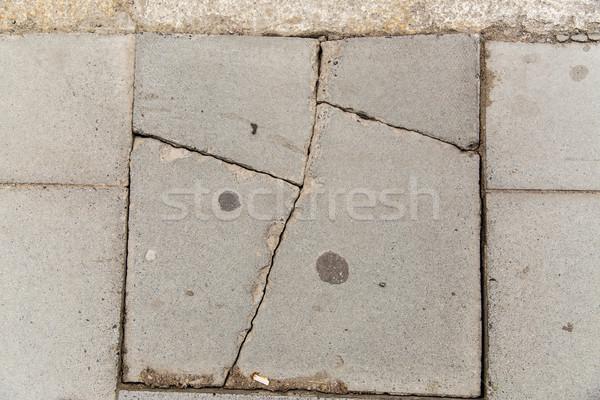 треснувший каменные пластина кирпичная кладка трещина Сток-фото © dolgachov