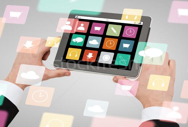 Stockfoto: Handen · app · iconen
