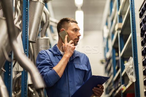 Automechaniker Zwischenablage Auto Workshop Service Reparatur Stock foto © dolgachov