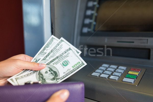 Main argent atm machine Finance Photo stock © dolgachov
