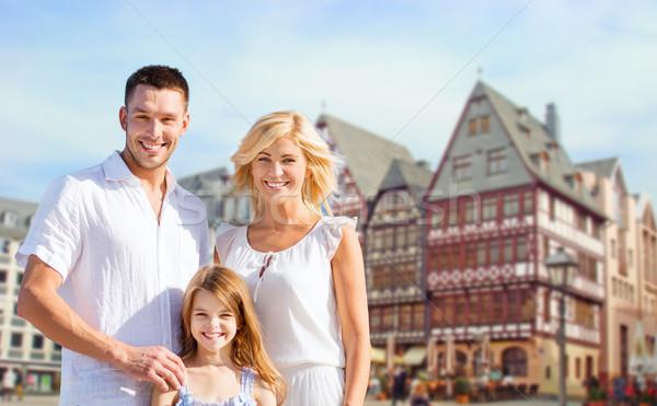 Mutlu aile Frankfurt ana turizm seyahat Stok fotoğraf © dolgachov