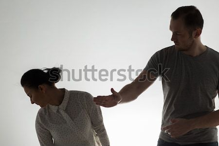 couple having fight and man slapping woman Stock photo © dolgachov