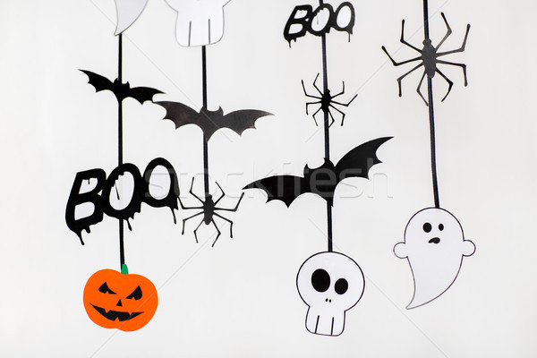 halloween party paper garlands or decorations Stock photo © dolgachov