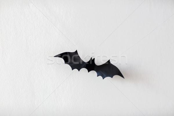 Halloween dekoracji bat wiszący scary czarny Zdjęcia stock © dolgachov