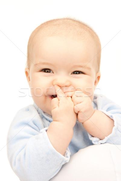 прелестный ребенка ярко фотография белый лице Сток-фото © dolgachov