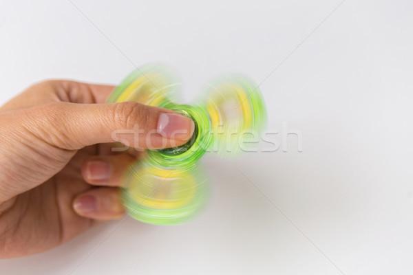 Közelkép kéz játszik játékok szórakoztatás emberek Stock fotó © dolgachov