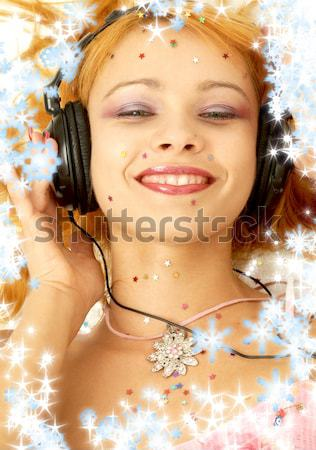 pearl desire with snowflakes Stock photo © dolgachov