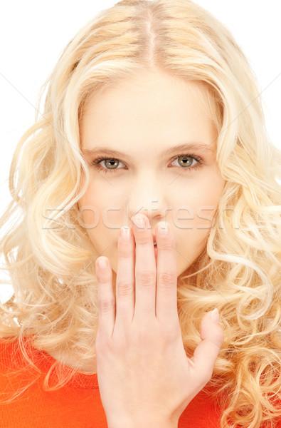 Gülme kadın parlak resim güzel Stok fotoğraf © dolgachov