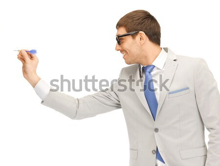 businessman with dart Stock photo © dolgachov