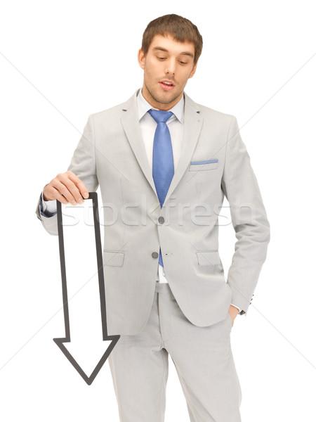 üzletember irányítás nyíl jelzés kép vonzó üzlet Stock fotó © dolgachov