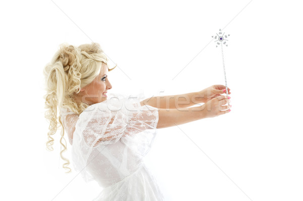 fairy with magic wand Stock photo © dolgachov