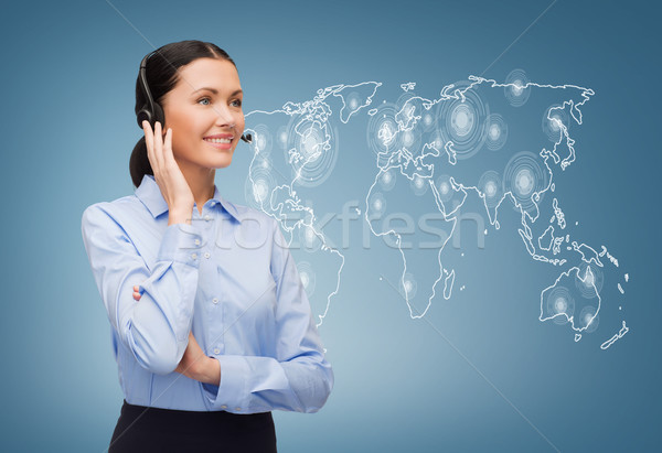 дружественный женщины телефон доверия оператор бизнеса служба Сток-фото © dolgachov