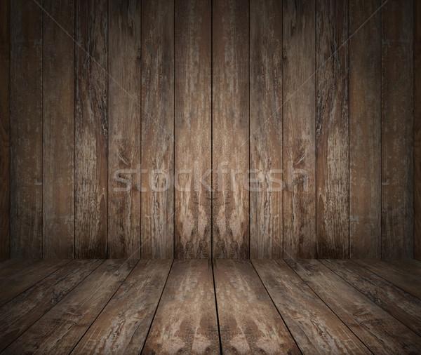 wooden floor and wall Stock photo © dolgachov