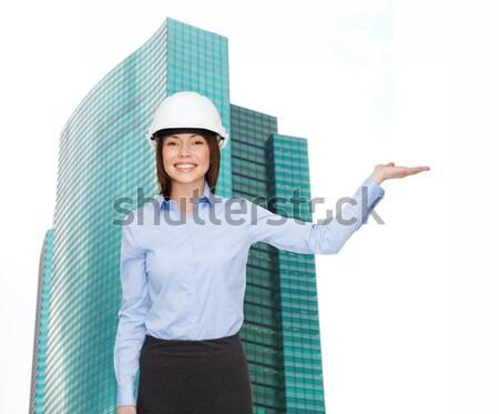 Souriant couple pinceau réparation construction entretien Photo stock © dolgachov