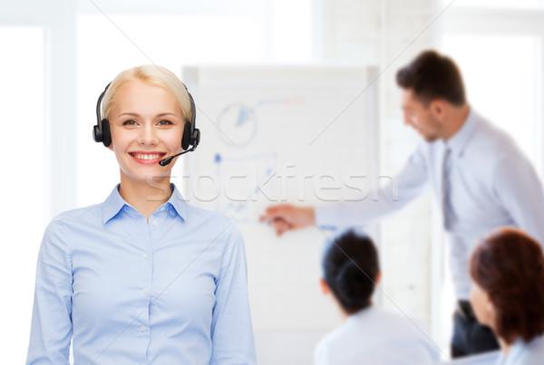 優しい 女性 ヘルプライン 演算子 ヘッドホン ビジネス ストックフォト © dolgachov