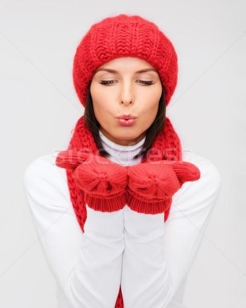улыбаясь зима одежды счастье праздников Сток-фото © dolgachov
