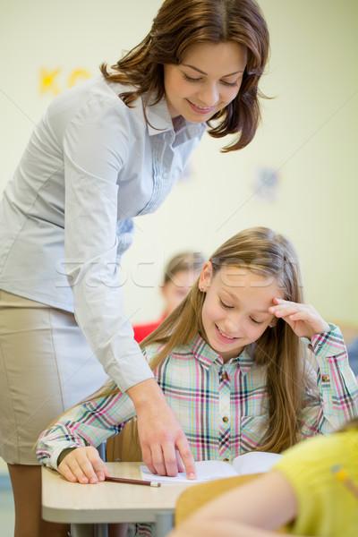グループ 学校 子供 書く テスト 教室 ストックフォト © dolgachov