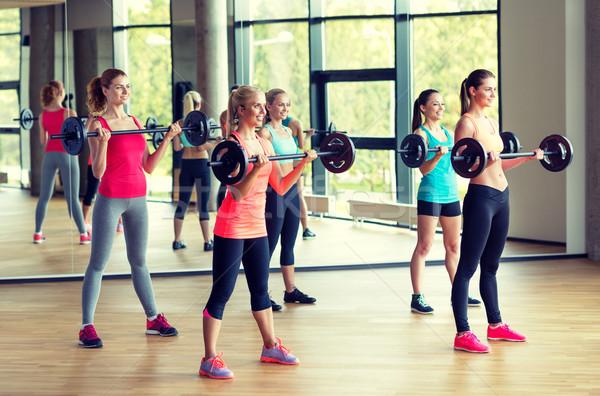 グループ 女性 ジム フィットネス スポーツ 訓練 ストックフォト © dolgachov