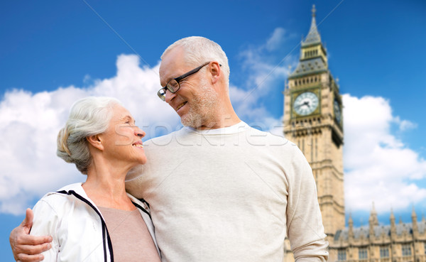 счастливым большой Бен башни Лондон семьи Сток-фото © dolgachov