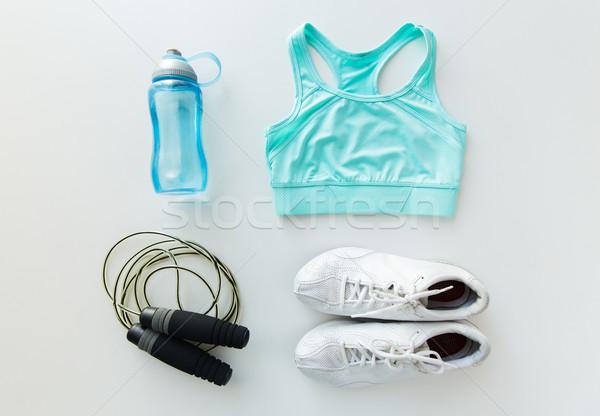 спортивная одежда веревку бутылку спорт фитнес Сток-фото © dolgachov