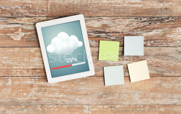 stickers and tablet pc transferring data Stock photo © dolgachov