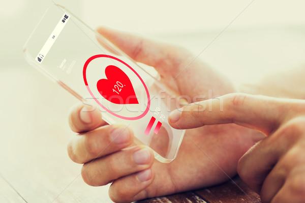 стороны частота сердечных сокращений смартфон медицина здравоохранения Сток-фото © dolgachov
