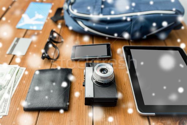 Camera gadgets reizen toerisme winter Stockfoto © dolgachov