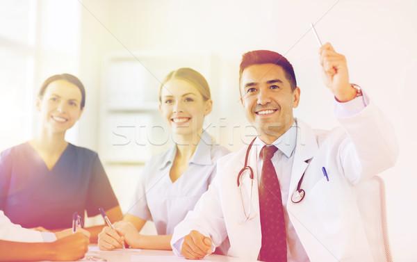 Grupo feliz médicos conferencia hospital profesión Foto stock © dolgachov