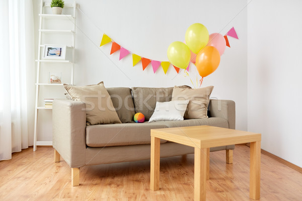 living room decorated for home birthday party Stock photo © dolgachov